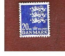 DANIMARCA (DENMARK)  -  SG  348s  -  1986  ARMS  20  - USED ° - Usati