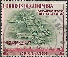 COLOMBIA 1956 Regional Industries - 2c Barranquilla Naval Workshops, Atlantico FU - Colombie
