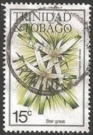 1983 15 Cents Flower, Star Grass, Used - Trinidad & Tobago (1962-...)