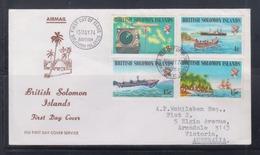 British Solomon Islands 1974 Ships FDC - Ships
