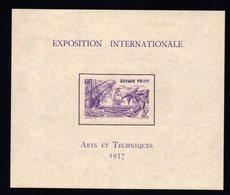 GUYANE / Exposition Internationale Bloc N° 1 Neuf * - French Guiana (1886-1949)