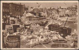 Gulls At St Ives, Cornwall, 1939 - Photochrom Postcard - St.Ives
