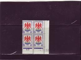 N° 1184 - 2F Blason De NICE - B De A+B - 1° Tirage Du 9.10.58 Au 7.11.58 - 4.11.1958 - - Coins Datés