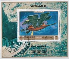 Manama 1971 Bf. 153A Espace Spazio Space Apollo 16 Sheet Perf. CTO - FDC & Commemorrativi