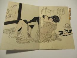 SUPERB VINTAGE ORIENTAL SHUNGA EROTIC ART , JAPAN OR CHINA , NUDE   , O - Art Asiatique