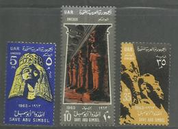 UAR EGYPT EGITTO 1963 UNESCO World Campaign To Save HISTORIC MONUMENTS IN NUBIA COMPLETE SET SERIE COMPLETA MNH - Egitto