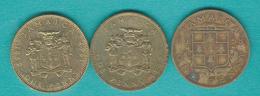 Jamaica - Elizabeth II - Penny X 3 - 1958 (KM37) 1967 (KM39) 1969 (KM42) - Jamaique