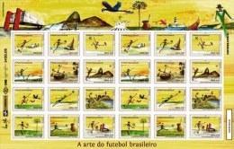 BRAZIL 2014  -  THE ART OF BRAZILIAN  FOOTBALL - 24 Stamps - MINT - SPECIAL OFFER - Brazil