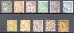 Colonies Générales : Alphée Dubois N° 46 à 56 OBL - Alphee Dubois