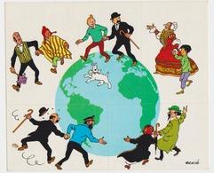 TINTIN HERGE 5 STICKERS DE L'OPERATION 48.81.00 En 1972 - Hergé