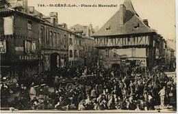 4102  -  Lot -  SAINT CERE  : MARCHE  PLACE DU MERCADIAL     Non Circulée - Saint-Céré
