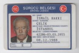 1988 TURKEY DRIVING LICENCE USED - Non Classificati