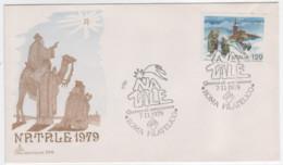 Italia, 1979, Natale, Busta Capitolium, FDC Roma Annullo Speciale 7-11-79 - 6. 1946-.. Republic