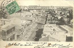 """2145 """" RUE DE COMMERCE A PORT SAID - VISTA PANORAMICA-PRIMI DEL '900"""" CARTOLINA POSTALE ANIMATA ORIGINALE SPED. - Port Said"""