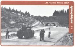 *ITALIA: VIACARD - A1 FIRENZE - ROMA, 1963 (L. 100000)* - Usata - Non Classificati