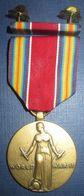 Medaille US Commémo WW2 +Rappel - Etats-Unis