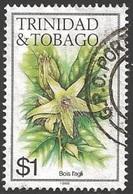 1985 $1.00 Flower, Bois L'aglio, Used - Trinidad & Tobago (1962-...)