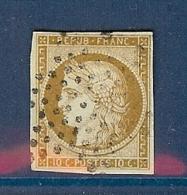 N° 1 OBLITERE ETOILE SIGNE CALVES TTB - 1849-1850 Ceres