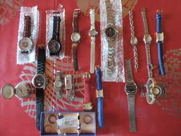 LOT DE 16 MONTRES NEUVES ET ANCIENNES - Watches: Old