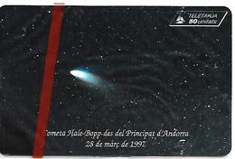 CARTE^-PUCE-ANDORRE-50U-AND 82-SC7-11/97-COMETE DE HALLE-NSB-TBE - Andorre