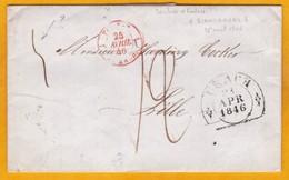 1846 - Règne De Louis Philippe En France - LAC De Urach, Bade Wurtemberg Vers Lille, France - Entrée Par Strasbourg - Marcofilie