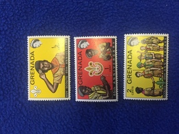 Grenada Stamps, 1972,  Set Of 3, Scouting, Mint, Never Hinged - Grenada (1974-...)