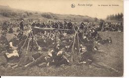 ARMEE BELGE LE DRAPEAU AU BIVOUAC  FELDPOST 24.1.1915 - Manovre
