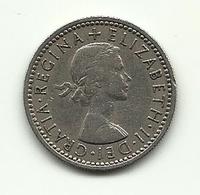 1955 - Gran Bretagna 6 Pence - 1902-1971 : Monete Post-Vittoriane