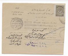 TURQUIE - CARTE COLIS POSTAL - 1921-... République