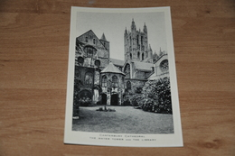 7047-  CANTERBURY CATHEDRAL,THE WATER TOWER AND THE LIBRARY - Religions & Beliefs