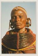 CP - PHOTO - KENYA - FEMME SAMBURU - MICHEL ORIVEL - HOA QUI - SAMBURU WOMAN IN TRIBAL COSTUME - Kenia