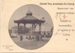 PK - Aalter - Aeltre - De Markt - Kiosk - Reclame Aannemer Bouwstoffen C. Van Averbeke - De Clercq - Aalter