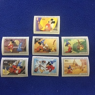Mongolia  Stamps, 1982  Set Of 7, Disney's Sorcerer's Apprentices, Mint ,Never Hinged - Mongolia