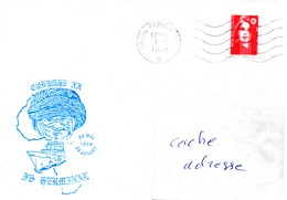 FS GERMINAL Mission CORYMBE 20 Obl. Paris Naval 01/06/95 - Marcophilie (Lettres)