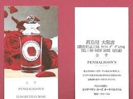 F-  Carte à Sprayer Penhaligon's - Elisabethan Rose  - Perfume Card - Japon - Cartes Parfumées