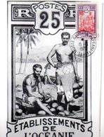 Etablissement De L'Océanie -1970 - Carte -Ancien Tahiti -voir état - Frankreich (alte Kolonien Und Herrschaften)