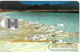 CARTE-PUCE-SCHLUM--OPT-DJIBOUTI-1 00U--SC7-SCHLUM-LAC SALE-R° ROCHERS +OCRES-V°LOGO  OPT BLEU - Djibouti