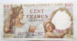 BILLET 100 CENT FRANCS 1941 SULLY 551 - 1871-1952 Anciens Francs Circulés Au XXème