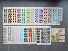 Lot Feuilles Complètes/incomplètes De Timbres Belgique - Année 1970 - Feuilles Complètes