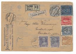 1916 - AUTRICHE - CARTE COLIS POSTAL DE WIEN => CONSTANTINOPEL (TURQUIE) ! - 1850-1918 Empire