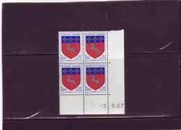 N° 1510 - 0,20F Blason De Saint LO - 3° Tirage Du 17.7. Au 8.8.67 - 2.08.1967 - - 1960-1969