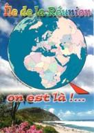 Ile De La Réunion - La Plage De Grand Anse - Carte Géographique - Voir Scans Recto-Verso - La Réunion