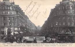75 - PARIS 1er : Place Et Avenue De L'Opéra - CPA - Seine - Paris (01)