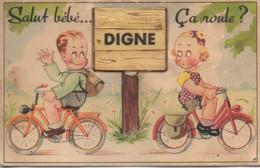 """04 DIGNE  Carte Système : """"Salur Bébé çà Roule """" - Digne"""