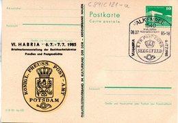 """(FC-8)DDR Amtl.GZS.m.priv.Zudruck""""Palast Der Republik 10Pf.smaragdgrün """"P84/C121a""""VI. HABRIA 1985"""" SSt 6.7.85 - Postkarten - Gebraucht"""
