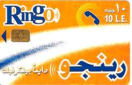 CARTE PUCE-EGYPTE-RINGO-10 L.E-Orange-UTILISE-TBE - Egypte