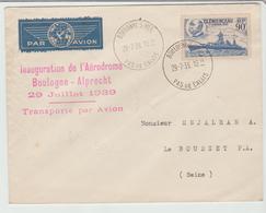 """1939 - """" INAUGURATION AERODROME BOULOGNE ALPRECHT / LSC Pour Le Bourget TB - Marcophilie (Lettres)"""