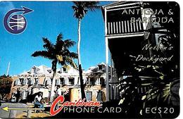 CARTE-ANTIGUA/BARBADE-ANTILLES-ECS-20$-MAGNETIQUE-NELSON DOCK-V+Cadre Avec N°-BE - Antigua Et Barbuda