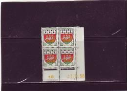 N° 1185 - 3F Blason De NANTES - A De A+B - Tirage Du 10.11.58 Au 2.12.58 -13.11.1958 - - Coins Datés