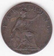 Grande-Bretagne 1 Farthing 1918 , George V - 1902-1971: Postviktorianische Münzen